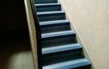 Sol PVC technique dans escalier