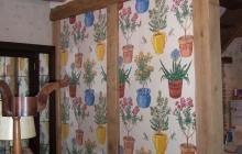 Papier mural anglais dans maison de campagne