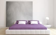 Chambre avec enduit déco gris