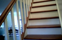Peinture escalier bois en 2 tons